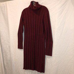 The J. Peterman Company HOLIDAY crimson red dressS